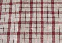 Barn Red Salem Plaid Lined Valance 72x15.5 in