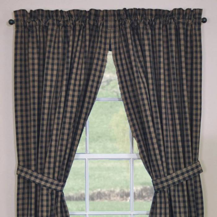 Black Sturbridge Curtains 72x84