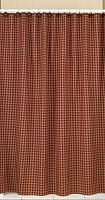 Wine Sturbridge Plaid Shower Curtain