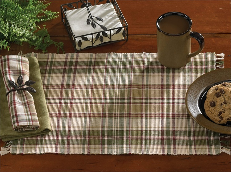 Thyme Plaid Ribbed Placemat