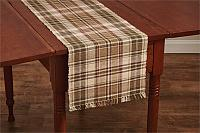 Thyme Plaid Ribbed Table Runner 13x54