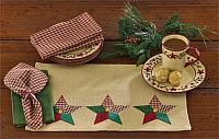 Christmas Sampler Lined Burlap Placemat