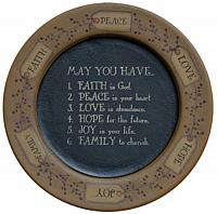 May You Have Wooden Plate