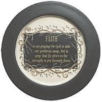 Faith and Vine Wood Plate