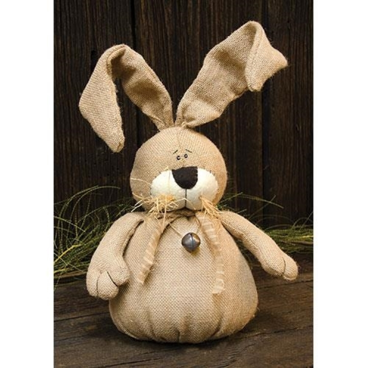#TDA54205 Burlap Bunny with Posable Ears 15