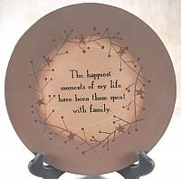 Happiest Moments Spent with Family Wooden Plate