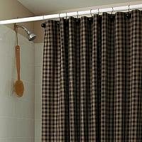 Black Sturbridge Plaid Shower Curtain