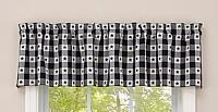 Checkerboard Star Lined Valance 60x14 in