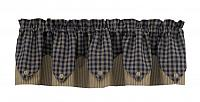 Navy Sturbridge Lined Point Valance 72x15 in